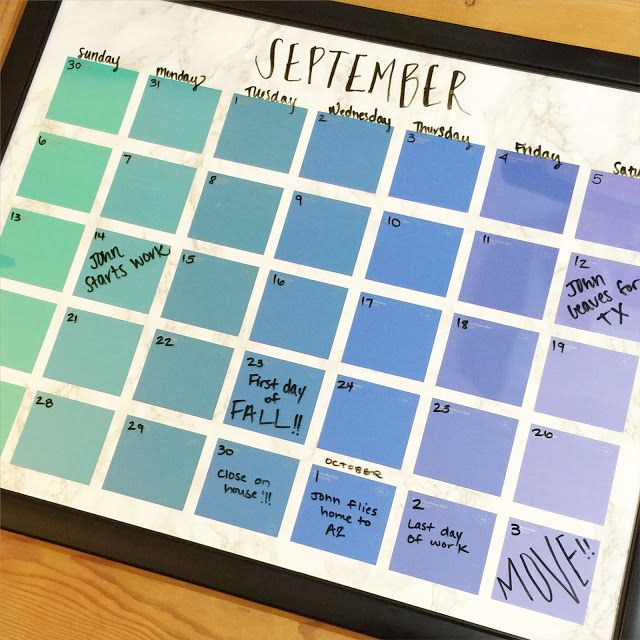 Paint Chip Calendar