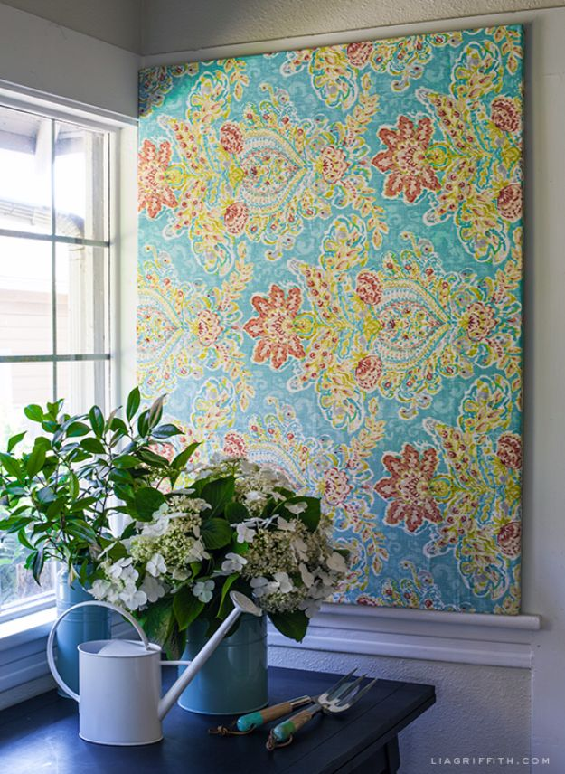 Showe Curtain into Large Wall Art