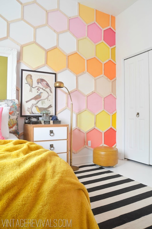 Wall Hexagon Paint Job