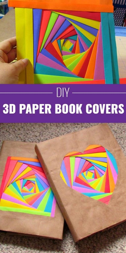 3D Paper Book Cover