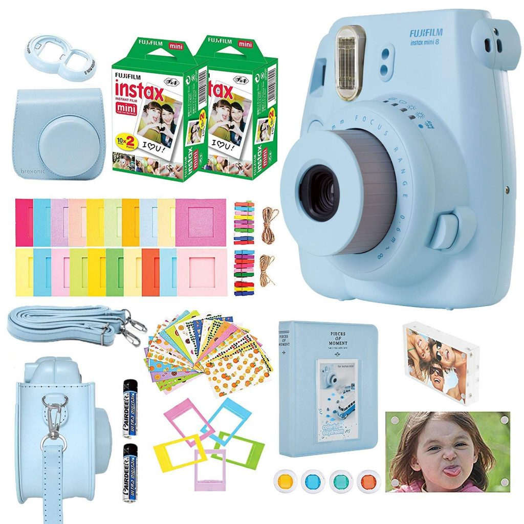 Fujifilm Instax Mini 8 Camera (Blue) with Accessories Kit