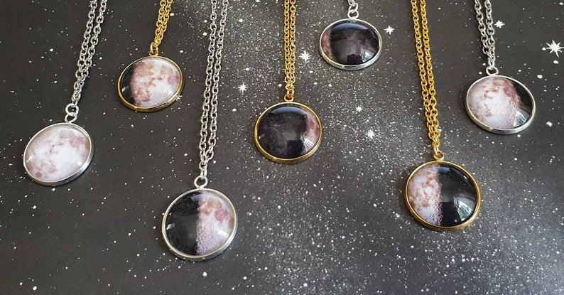 LAURENWEBBSHOP Custom Moon Phase Necklace