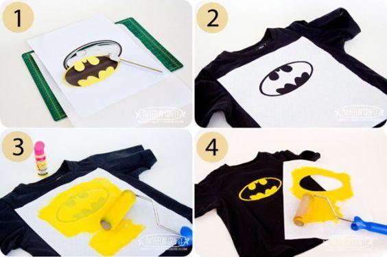 Make your own Batman T shirt