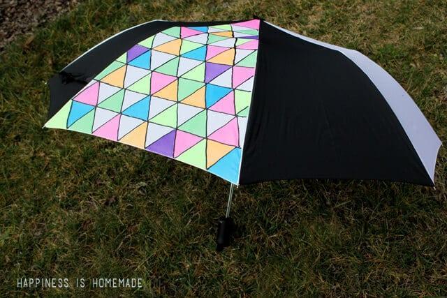 Neon Geometric Umbrella