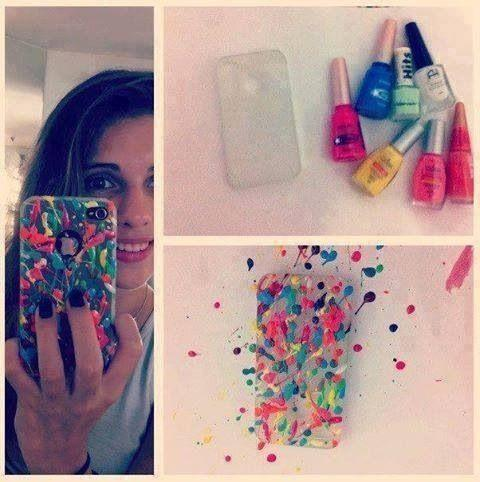 Phone Cover with Nail Polish