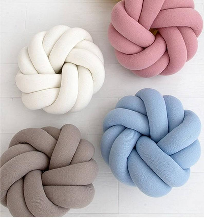 SHOPDECORPAINTING Large Knot Pillows