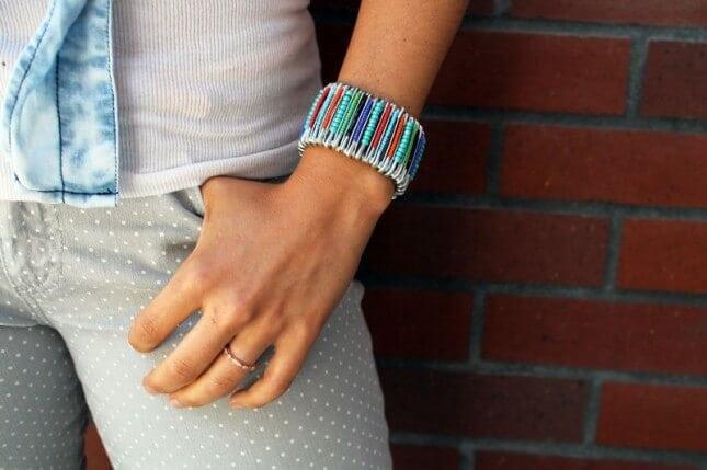 Safety Pin Jewelry- Necklace and Bracelet