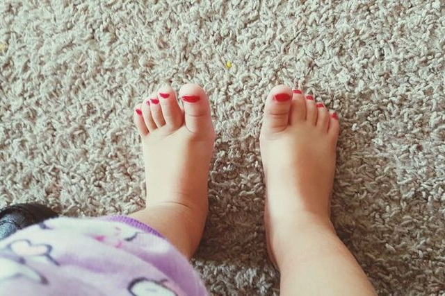 nail polish on babies