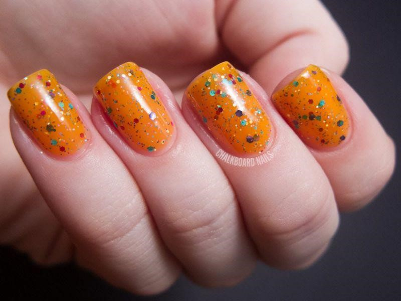 Glittery Orange