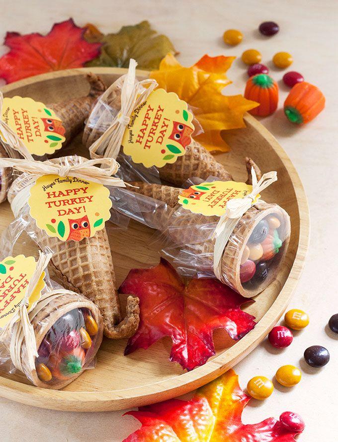Colorful candy cornucopia