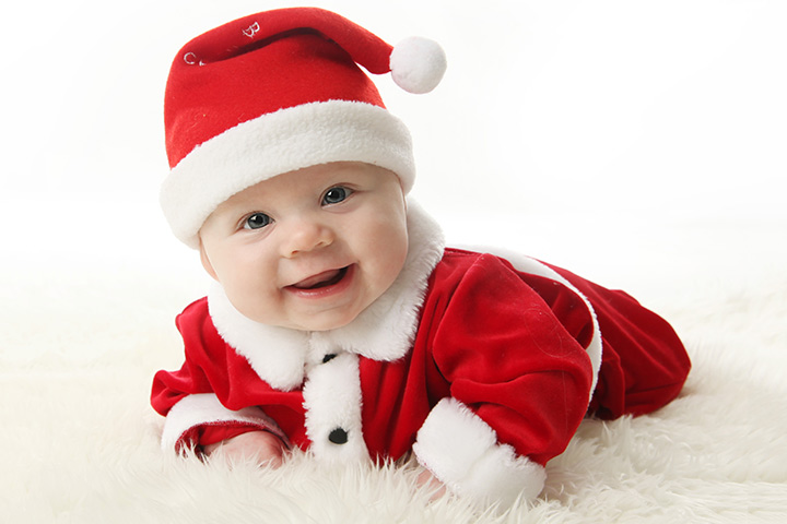 baby first christmas: Dressing up Your Little Santa