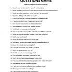 Questions game