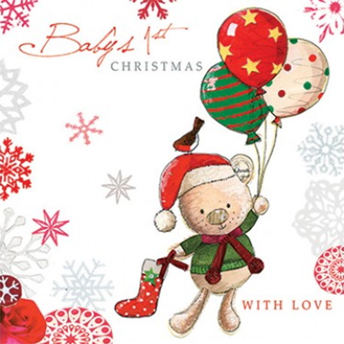 baby first christmas: Sentimental Holiday Card