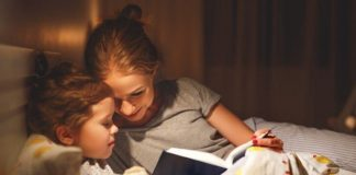 reading bedtime stories for children