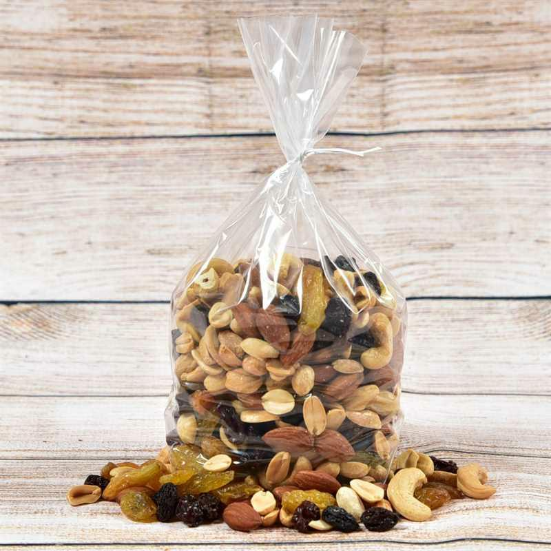 A Gift Bag with Nuts and Trail
