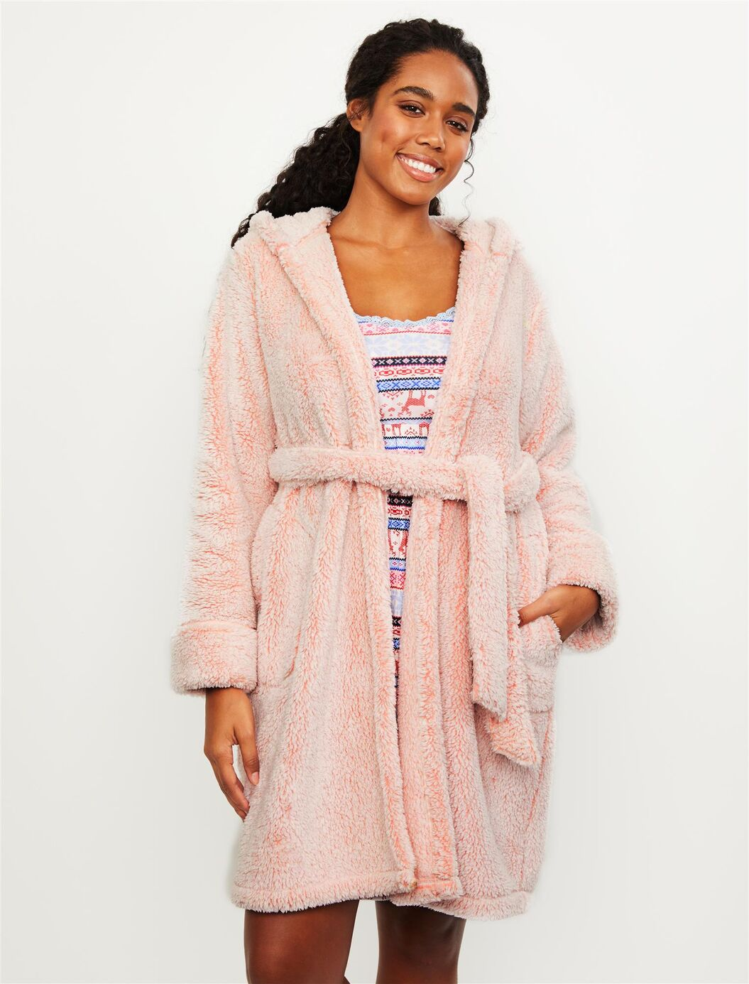 Hooded Cozy Sleep Maternity Robe