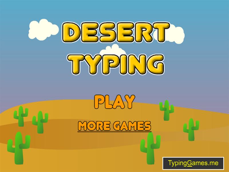 Desert Typing Racer