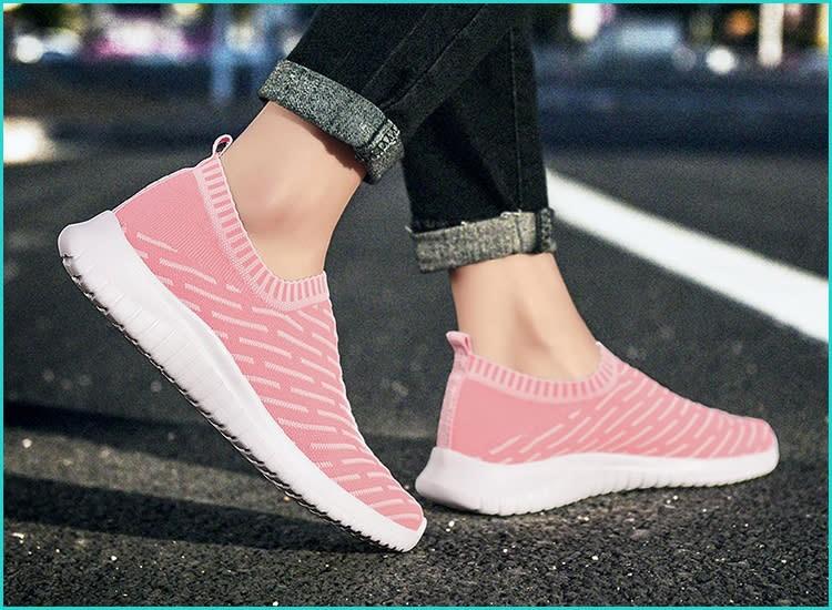 Tiosebon Women's Athletic Walking Shoes Casual Mesh