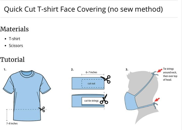 DIY T-Shirt Mask