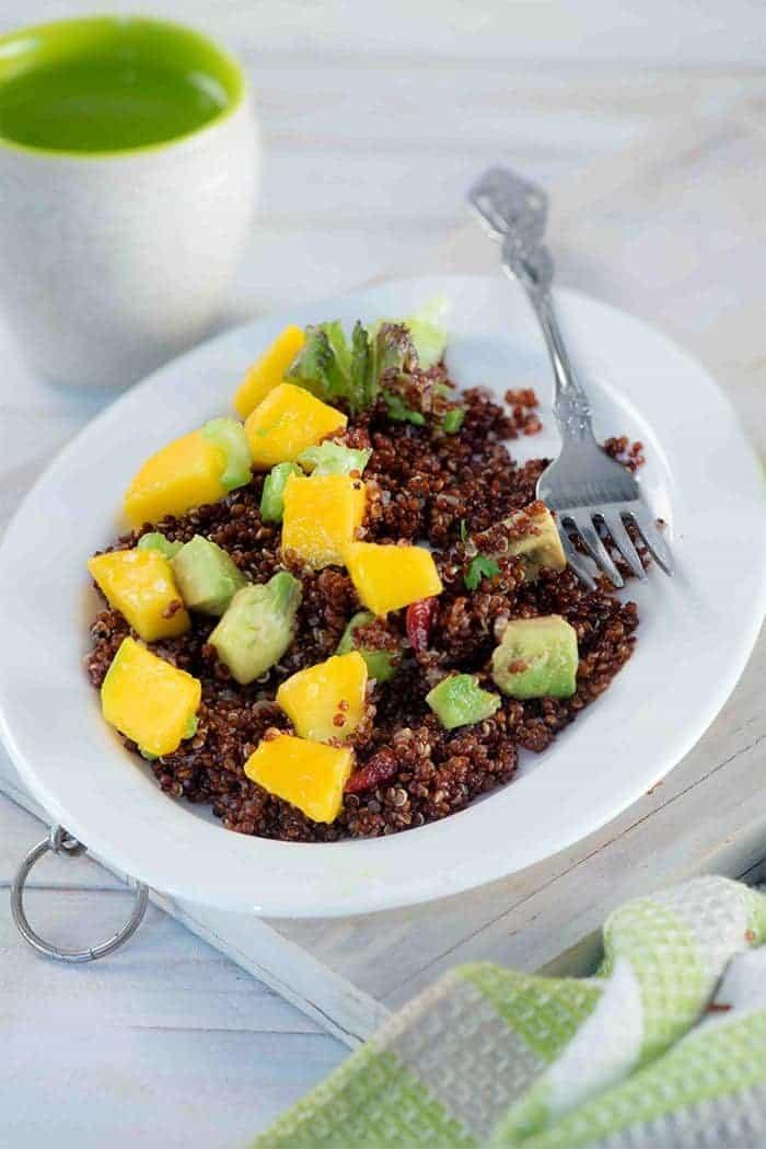 Red Quinoa Mango Salad
