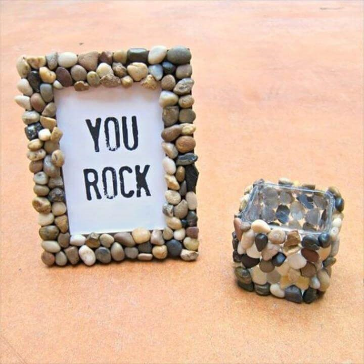 Rock and Pebbles Photo Frame