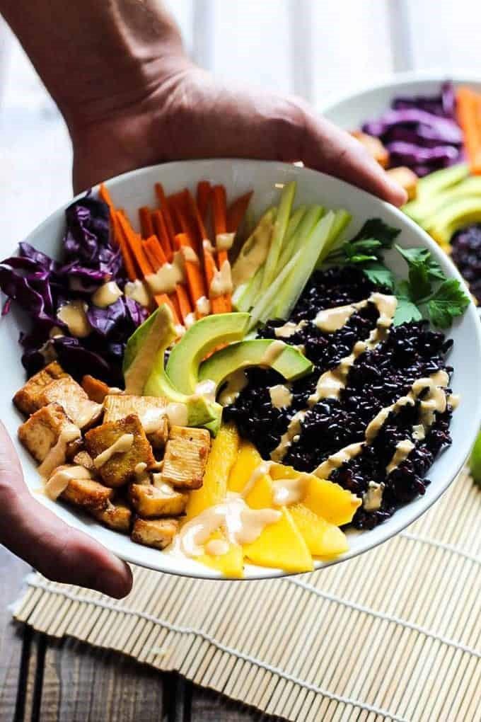 Tofu and Mango Rice Bowls