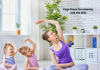 yoga for mommy and the kids
