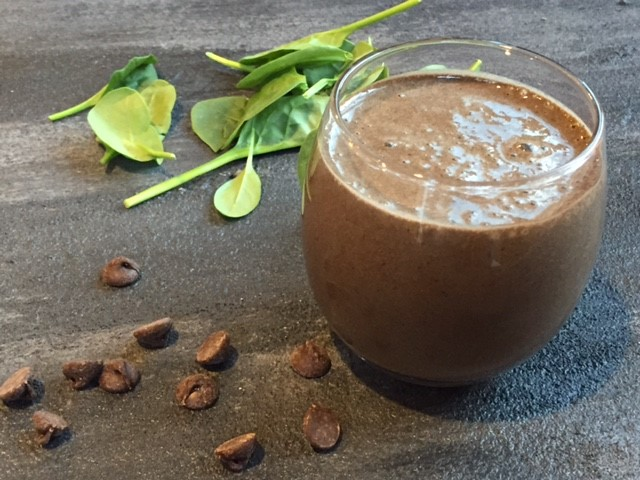 Chocolate Smoothie with Some Veggies
