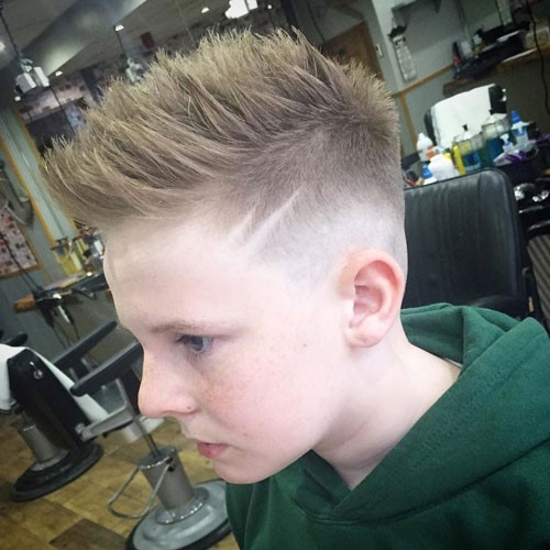The Spiky Hair and Fade Design