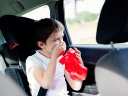 travel sickness in children
